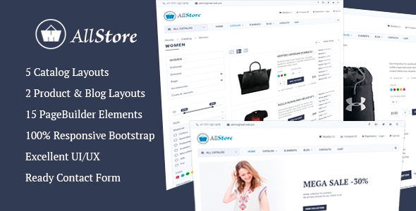 AllStore Preview Wordpress Theme - Rating, Reviews, Preview, Demo & Download