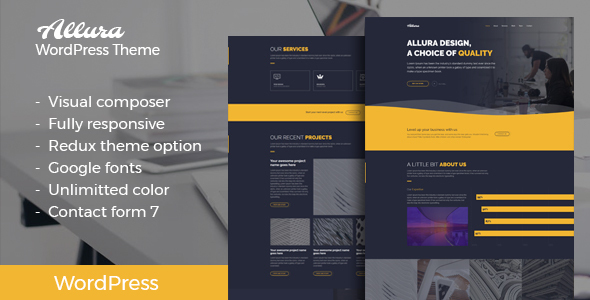 Allura Preview Wordpress Theme - Rating, Reviews, Preview, Demo & Download
