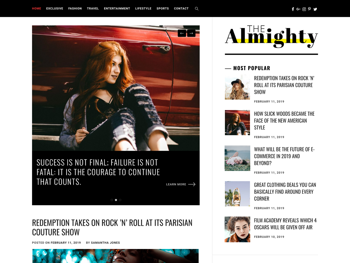 Almighty Preview Wordpress Theme - Rating, Reviews, Preview, Demo & Download