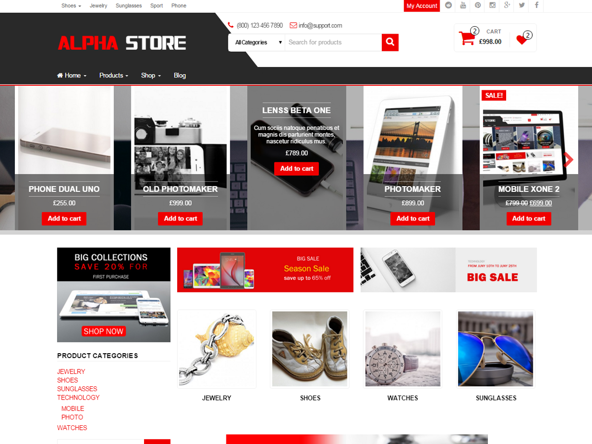 Alpha Store Preview Wordpress Theme - Rating, Reviews, Preview, Demo & Download