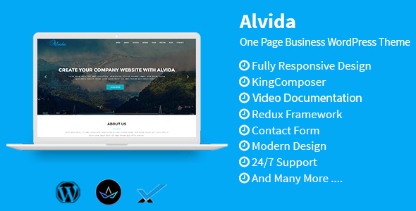 Alvida Preview Wordpress Theme - Rating, Reviews, Preview, Demo & Download