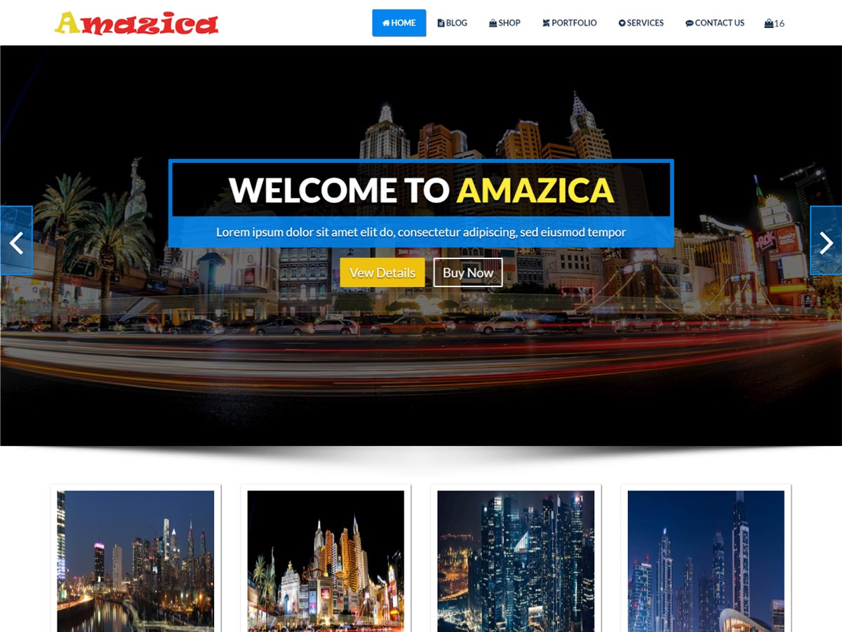 Amazica Preview Wordpress Theme - Rating, Reviews, Preview, Demo & Download