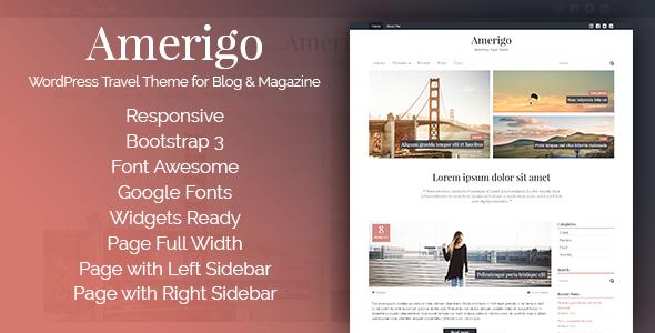 Amerigo Preview Wordpress Theme - Rating, Reviews, Preview, Demo & Download