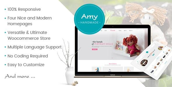 AmyHandmade Preview Wordpress Theme - Rating, Reviews, Preview, Demo & Download