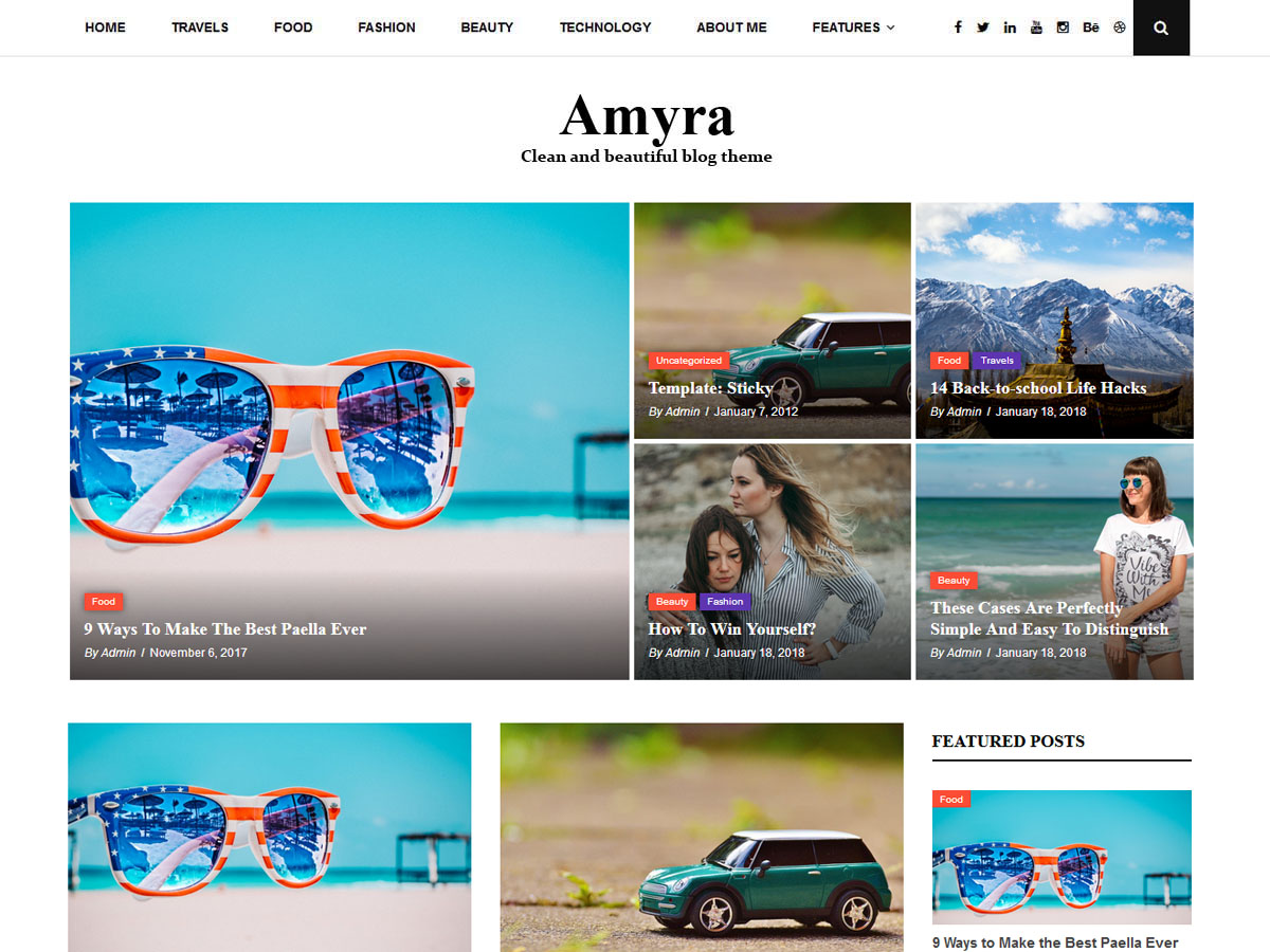 Amyra Lite Preview Wordpress Theme - Rating, Reviews, Preview, Demo & Download