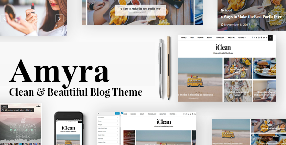 Amyra Preview Wordpress Theme - Rating, Reviews, Preview, Demo & Download