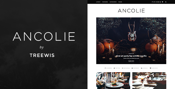 Ancolie Preview Wordpress Theme - Rating, Reviews, Preview, Demo & Download