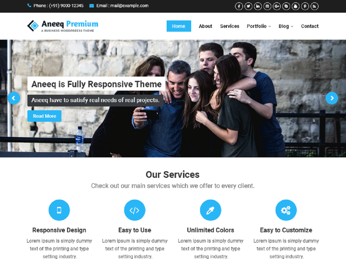 Aneeq Preview Wordpress Theme - Rating, Reviews, Preview, Demo & Download