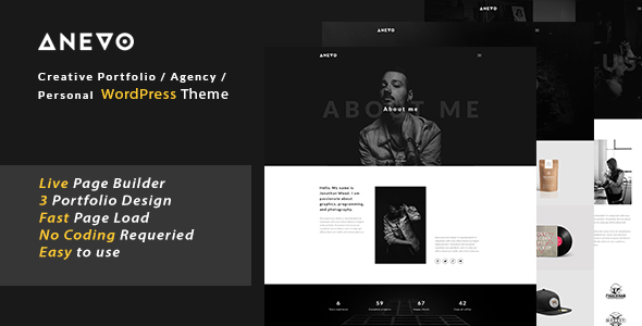 Anevo Preview Wordpress Theme - Rating, Reviews, Preview, Demo & Download