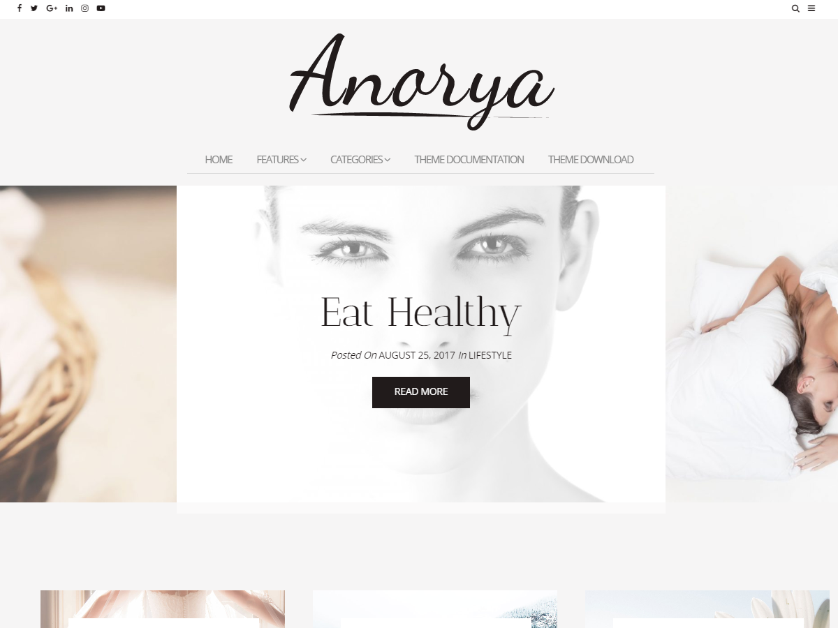 Anorya Preview Wordpress Theme - Rating, Reviews, Preview, Demo & Download