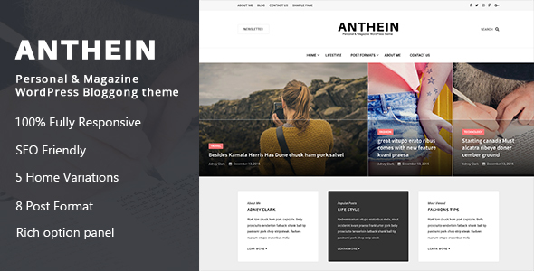 Anthein Preview Wordpress Theme - Rating, Reviews, Preview, Demo & Download