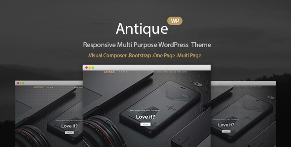 Antique Preview Wordpress Theme - Rating, Reviews, Preview, Demo & Download