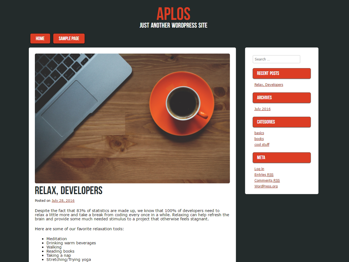 Aplos Preview Wordpress Theme - Rating, Reviews, Preview, Demo & Download