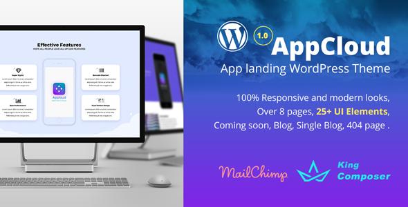 AppCloud WordPress Preview Wordpress Theme - Rating, Reviews, Preview, Demo & Download