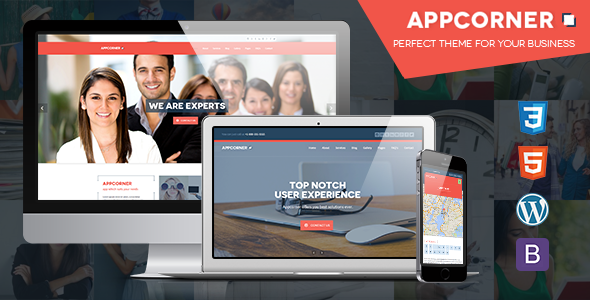 Appcorner Preview Wordpress Theme - Rating, Reviews, Preview, Demo & Download