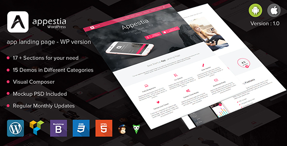 Appestia Preview Wordpress Theme - Rating, Reviews, Preview, Demo & Download
