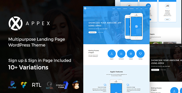 AppEx Preview Wordpress Theme - Rating, Reviews, Preview, Demo & Download