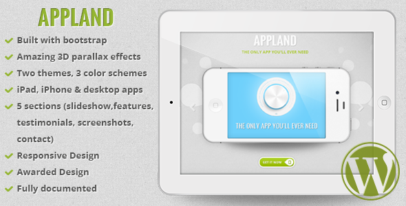 AppLand Preview Wordpress Theme - Rating, Reviews, Preview, Demo & Download