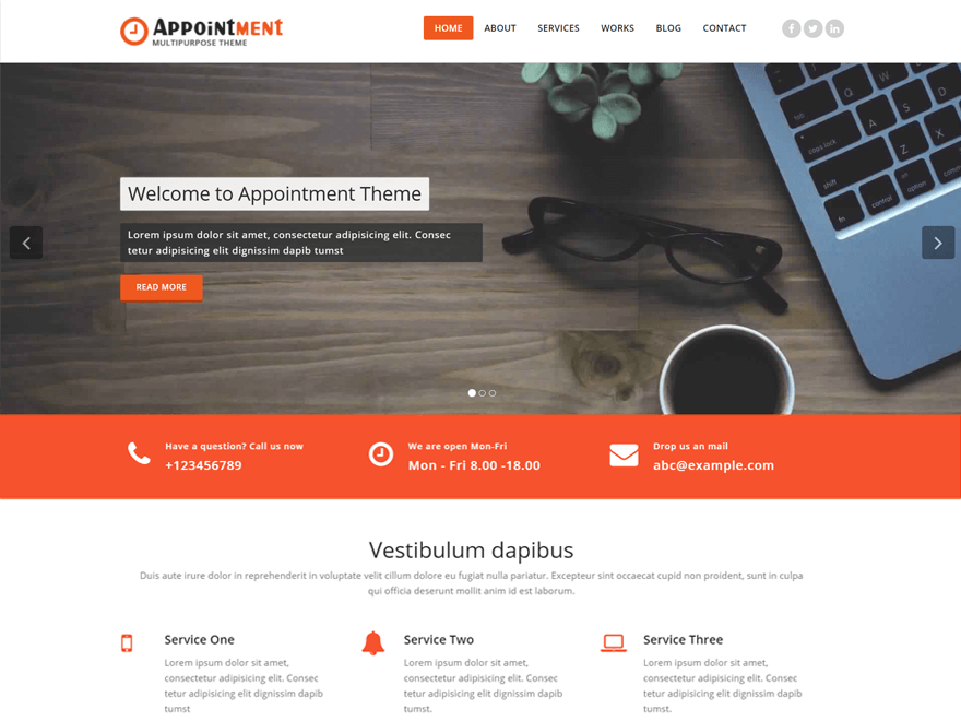 Appointment Preview Wordpress Theme - Rating, Reviews, Preview, Demo & Download