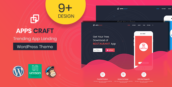 Apps Craft Preview Wordpress Theme - Rating, Reviews, Preview, Demo & Download