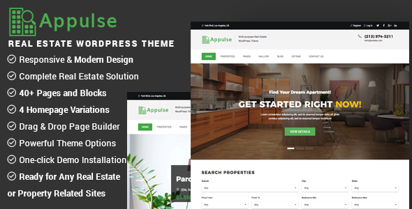 Appulse Preview Wordpress Theme - Rating, Reviews, Preview, Demo & Download