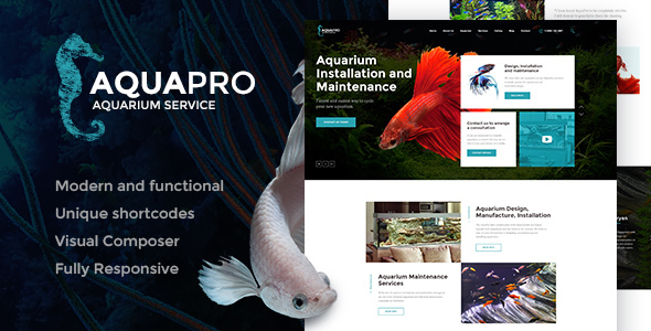AquaPro Preview Wordpress Theme - Rating, Reviews, Preview, Demo & Download
