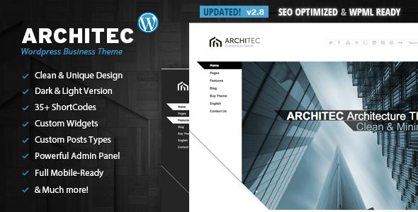 Architec Preview Wordpress Theme - Rating, Reviews, Preview, Demo & Download
