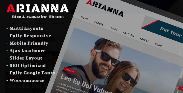 Arianna Preview Wordpress Theme - Rating, Reviews, Preview, Demo & Download