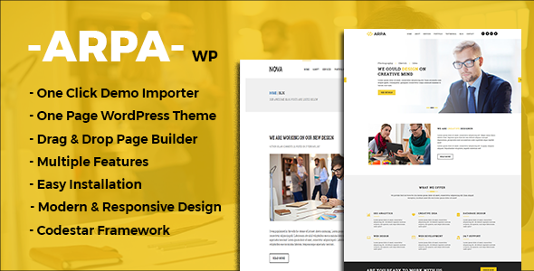 Arpa Preview Wordpress Theme - Rating, Reviews, Preview, Demo & Download