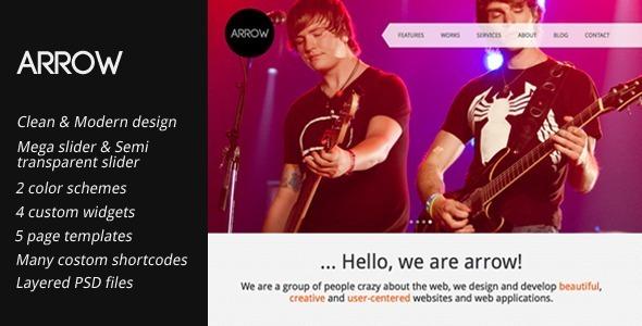 Arrow Preview Wordpress Theme - Rating, Reviews, Preview, Demo & Download