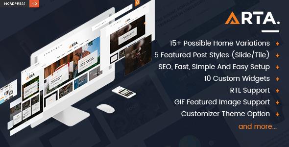 Arta Preview Wordpress Theme - Rating, Reviews, Preview, Demo & Download