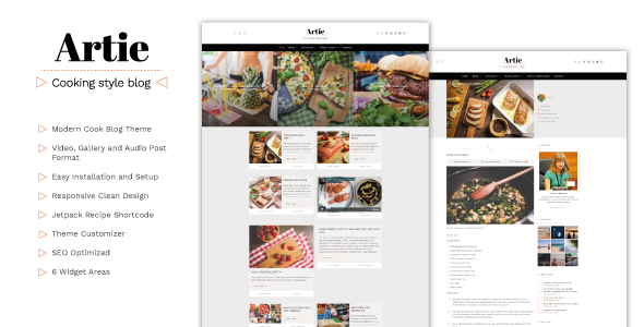 Artie Preview Wordpress Theme - Rating, Reviews, Preview, Demo & Download