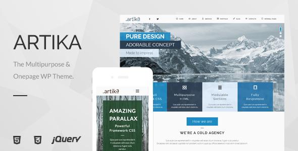 Artika Preview Wordpress Theme - Rating, Reviews, Preview, Demo & Download