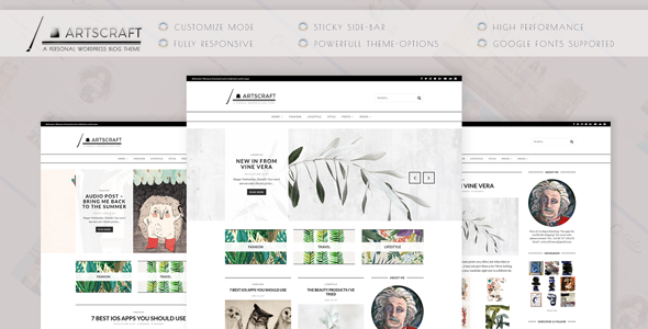 ArtsCraft Preview Wordpress Theme - Rating, Reviews, Preview, Demo & Download