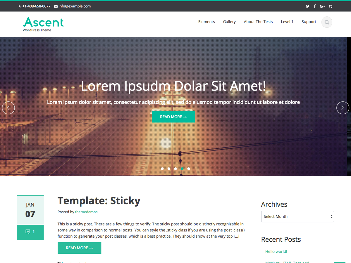 Ascent Preview Wordpress Theme - Rating, Reviews, Preview, Demo & Download