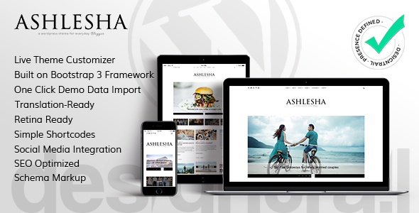 Ashlesha Preview Wordpress Theme - Rating, Reviews, Preview, Demo & Download