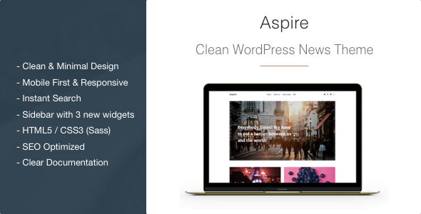 Aspire Preview Wordpress Theme - Rating, Reviews, Preview, Demo & Download