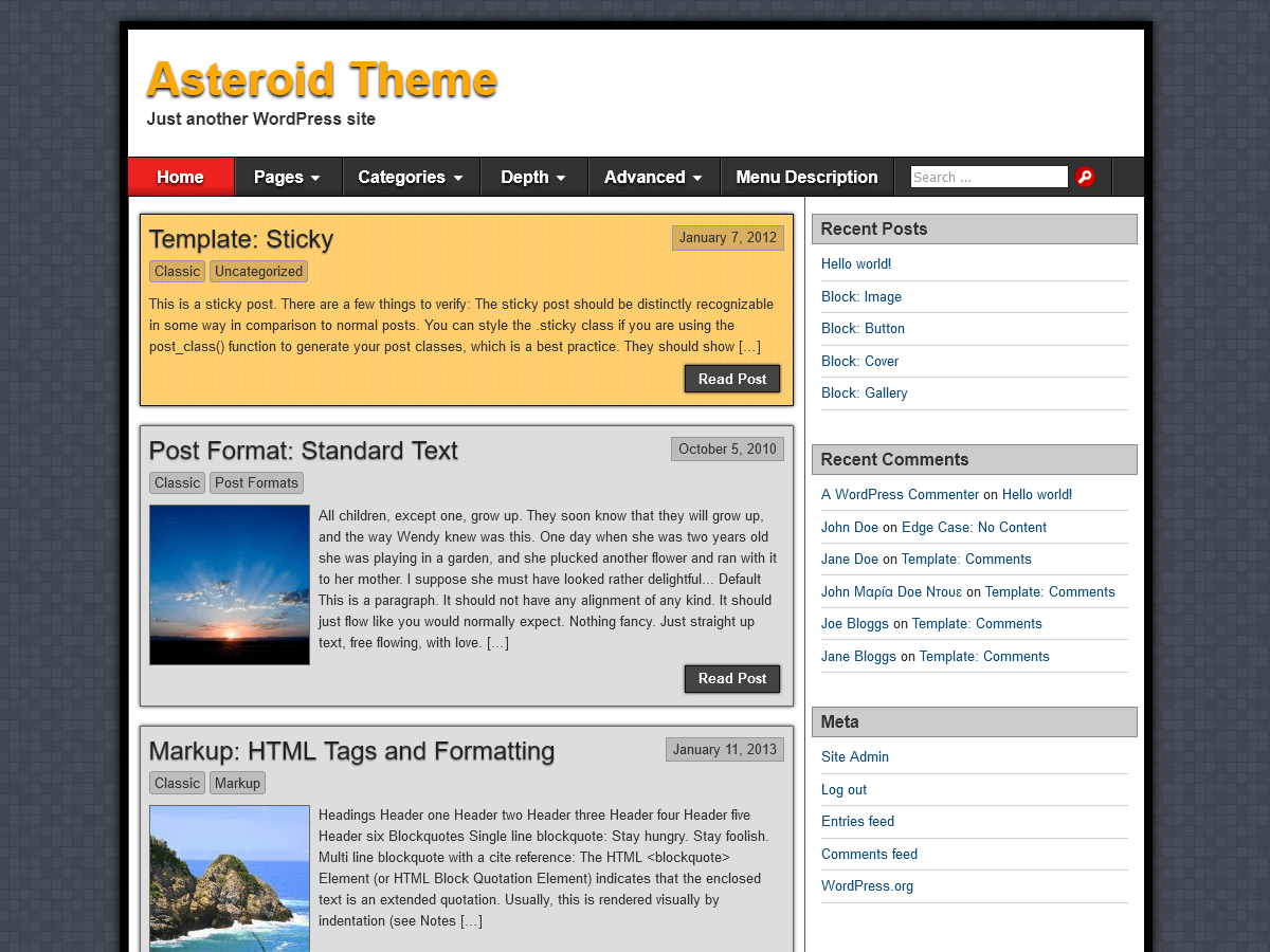 Asteroid Preview Wordpress Theme - Rating, Reviews, Preview, Demo & Download