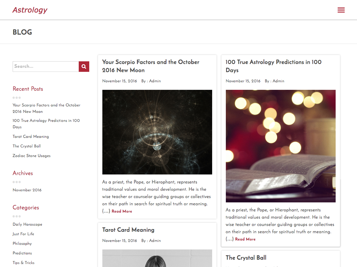 Astrology Preview Wordpress Theme - Rating, Reviews, Preview, Demo & Download