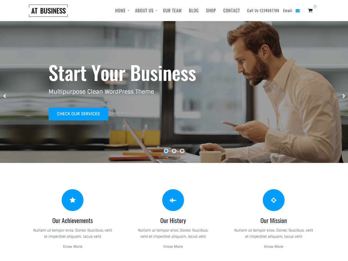 AT Business Preview Wordpress Theme - Rating, Reviews, Preview, Demo & Download