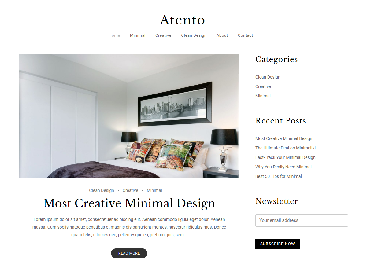 Atento Preview Wordpress Theme - Rating, Reviews, Preview, Demo & Download