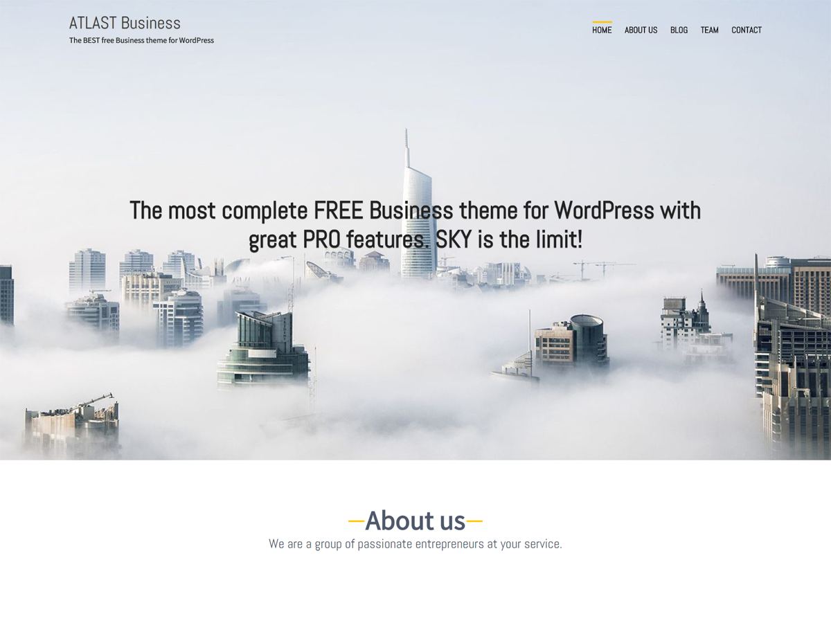 Atlast Business Preview Wordpress Theme - Rating, Reviews, Preview, Demo & Download