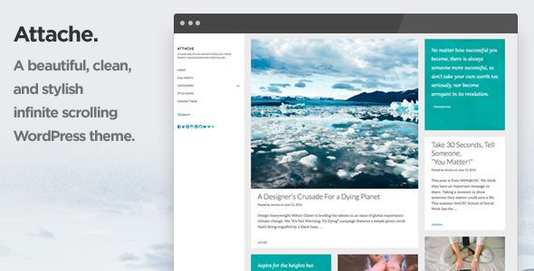 Attache Infinite Preview Wordpress Theme - Rating, Reviews, Preview, Demo & Download
