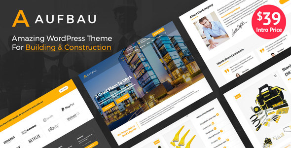 Aufbau Preview Wordpress Theme - Rating, Reviews, Preview, Demo & Download