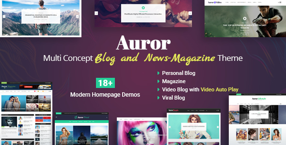 Auror Preview Wordpress Theme - Rating, Reviews, Preview, Demo & Download