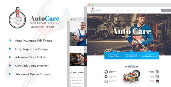 AutoCare Preview Wordpress Theme - Rating, Reviews, Preview, Demo & Download