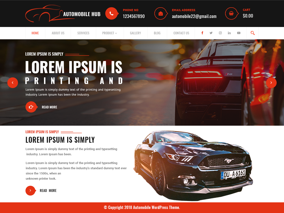 Automobile Hub Preview Wordpress Theme - Rating, Reviews, Preview, Demo & Download