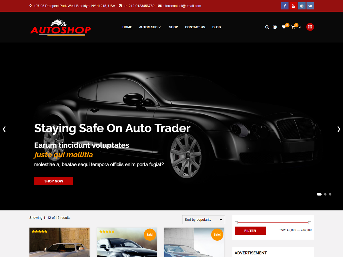 Autoshop Preview Wordpress Theme - Rating, Reviews, Preview, Demo & Download