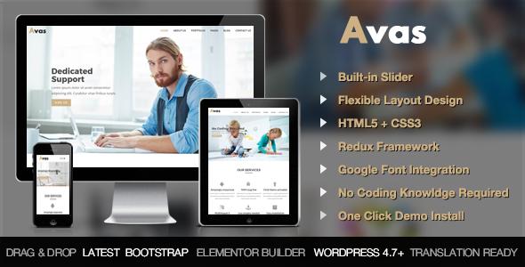 Avas Preview Wordpress Theme - Rating, Reviews, Preview, Demo & Download