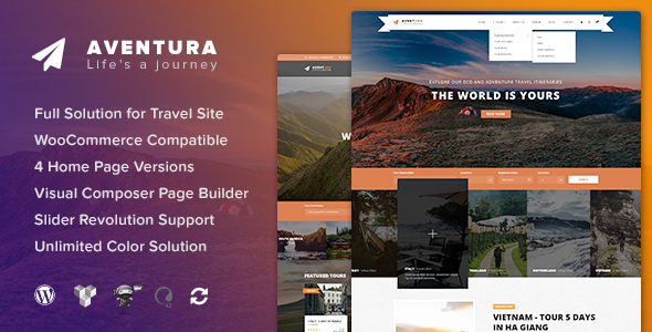 Aventura Preview Wordpress Theme - Rating, Reviews, Preview, Demo & Download